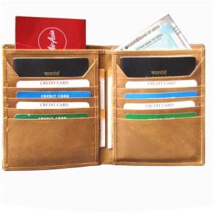 ABYS Genuine Leather Tan Travel Organizer||Passport Holder||Card Case||Passport Wallet for 2 Passports
