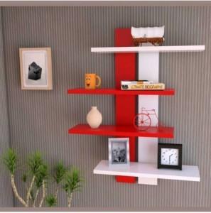 MartCrown Modern rack shelf Wooden Wall Shelf