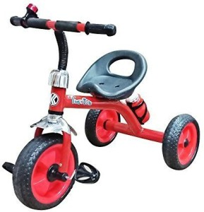 Toyshine Tikes n Tots Tricycle Ride-on Bicycle, Metal Body,Red 3-6 Years E-8423 Tricycle