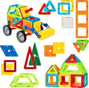 Magicwand Magical Magnetic Construction, Learning & Educational Building Blocks for Toddlers / Kids (76 Pcs)