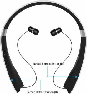 44fded9fe9d Portronics POR-930 Harmonics 200 Wireless Stereo Bluetooth Headset with  MicWhite, In the Ear