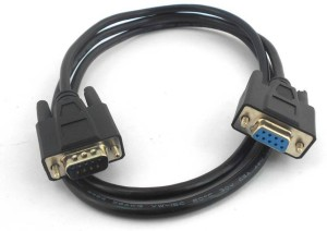 ANDTRONICS 9 Pin Serial Male to Female Extension Cable Lead DB9 RS232 Serial - 3M 9FT - Black Color Network Cable