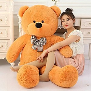 VK TEDDY BEAR 3 Feet soft toys very beautiful high qualiti for valentine & Birthday gift ( Approx 123 cm ) Brown color  - 123 cm
