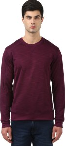 Park Avenue Full Sleeve Self Design Men Sweatshirt