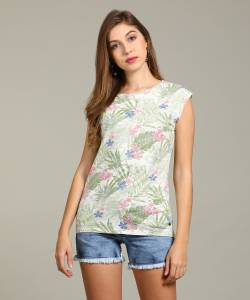 Pepe Jeans Printed Women's Round Neck Multicolor T-Shirt