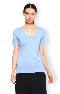 Van Heusen Casual Half Sleeve Solid Women's Blue Top