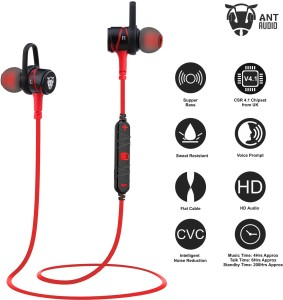 Ant Audio W56 Metal in Ear Stereo Bass Wired Headset with Mic Red ...