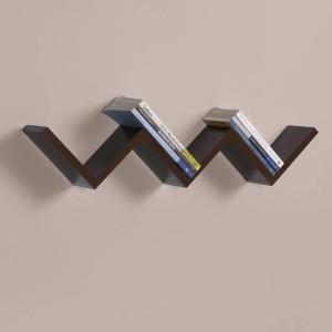 MartCrown New Shape Wooden Wall Shelf
