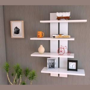 MartCrown Hotel Rack Wooden Wall Shelf