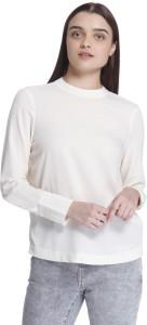 Vero Moda Casual Full Sleeve Solid Women's Beige Top