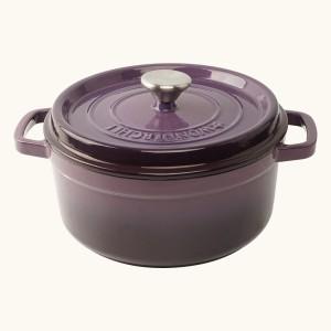 Wonderchef Ferro Cast-Iron with Lid 24cm (Purple) Casserole