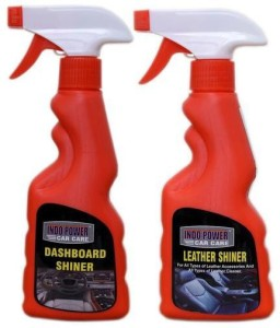 INDOPOWER LEATHER SHINER SPRAY 250ml.+ DASHBOARD SHINER SPRAY 250ml. Liquid Vehicle Glass Cleaner
