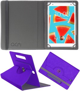 ACM Flip Cover for Lenovo Tab4 8 Plus Purple, Cases with Holder, Artificial Leather