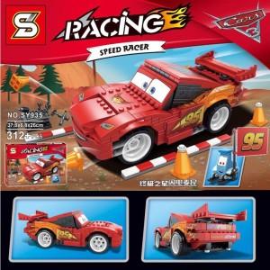 Sanyal Speed Racer Car Self Assembling Toy Bricks & Blocks Set For Kids- 312 pcs Block Set(Multi-color)
