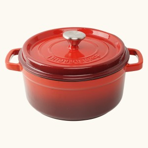 Wonderchef Ferro Cast-Iron with Lid 22cm (Red) Casserole