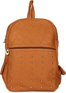 Rajni Fashion PU Leather Girls Backpack,School Bag, Student Backpack (TAN) Waterproof Backpack