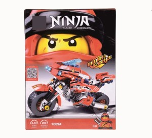 Sanyal Awesome Red Ninja Style Thunder Swordsman Building Blocks For Kids - 209 Pcs Blocks (Multicolored)