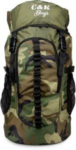 Chris & Kate Large Camouflage Travel Backpack || Outdoor Sport Camp Hiking Trekking Bag || Camping Daypack Bag || Rucksack  - 45 L