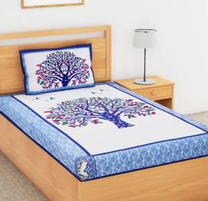 Flipkart SmartBuy 104 TC Cotton Single Printed Bedsheet