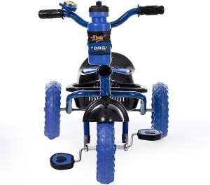 Dash Trendy Tricycle with Strong Frame, Bell, Sipper n Cute Basket (Blue) TORQ_BLUE Tricycle