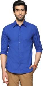Billion PerfectFit Men's Solid Casual Blue Shirt