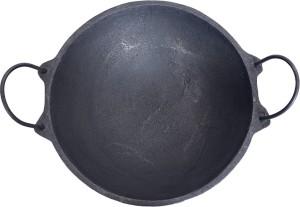 The Indus Valley Cast Iron Kadai LARGE - Pre Seasoned (Ready to Use) | 27 cm Dia Kadhai 27 cm