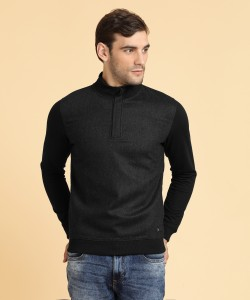 Peter England Full Sleeve Solid Men's Sweatshirt