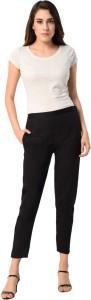 PAMO Regular Fit Women's Black Trousers