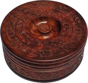 Royal Art Wooden Hand Crafted Casserole / Chapati Box for Kitchen Casserole