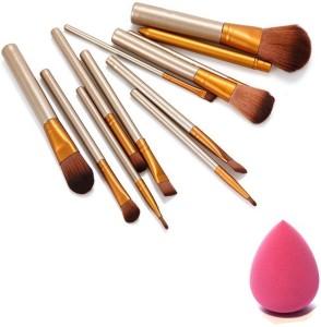 skinplus makeup brushs kit with sponge puff