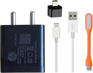OTD Wall Charger Accessory Combo for Samsung Galaxy J7, Redmi Note 4, Oneplus 4, Oneplus 5, Redmi 5A