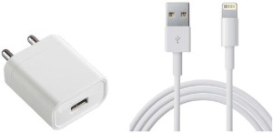 99 Gems 2.1A SMARTPHONES QUICK FAST LIGHTNING USB CABLE WITH ADAPTER Mobile Charger White, Cable Included