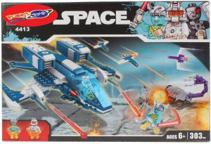 Planet of Toys 303 Pcs Space Building Blocks Set For Kids, Children