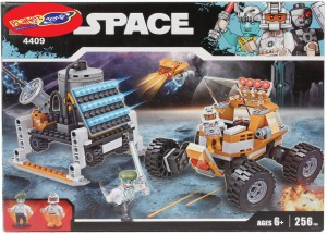 Planet of Toys 256 Pcs Space Building Blocks Set For Kids, Children