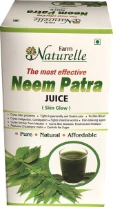 Farm Naturelle 1 Neem Patra Juice/Ras+The Finest 400 ml Skin Care & Blood Cleaning Neem Juice Patra Ras Herbal