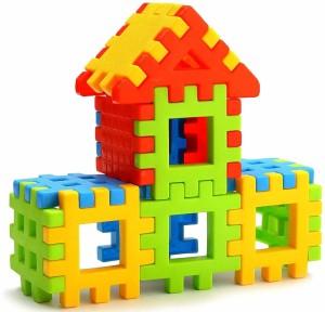 Rubik's Domino Happy Home Creative Multicolored Bright Building Blocks for kids