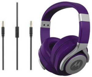 Motorola Pulse Max Wired Headset with Mic Purple, Over the Ear