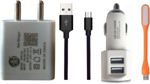 OTD Wall Charger Accessory Combo for Samsung J6, Redmi Note 4, Samsung Galaxy J7, Samsung Galaxy J5, Samsung J6