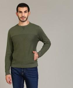 Flying Machine Full Sleeve Self Design Men's Sweatshirt