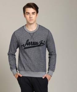 ARROW BLUE JEANS CO. Full Sleeve Applique Men Sweatshirt