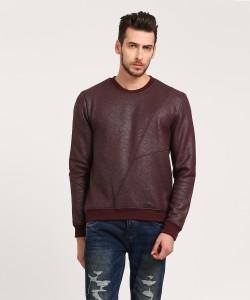 WROGN Full Sleeve Solid Men's Sweatshirt