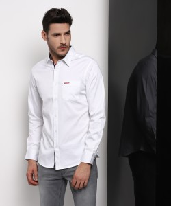 Ducati Men Solid Casual White Shirt