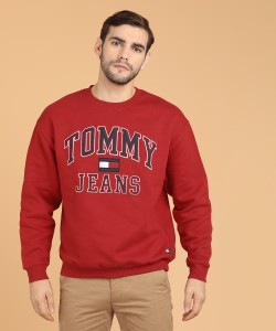 Tommy Hilfiger Full Sleeve Self Design Men's Sweatshirt