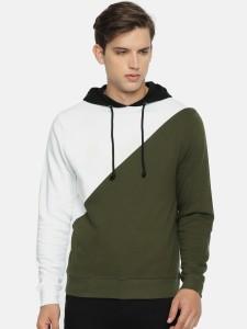 Arise Full Sleeve Solid, Colorblock Men's Sweatshirt