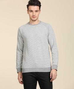 Indian Terrain Full Sleeve Striped Men's Sweatshirt