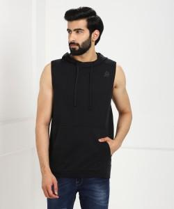 REEBOK Sleeveless Solid Men Sweatshirt
