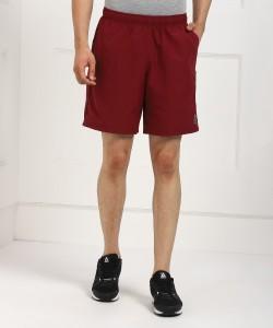 REEBOK Solid Men Maroon Sports Shorts