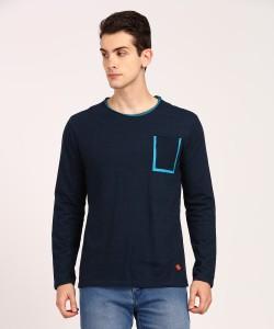 People 3/4th Sleeve Self Design Men Sweatshirt