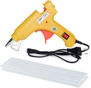 Flipkart SmartBuy 20W With 10 Glue Sticks Hot Melt Glue Gun Yellow Color For Art and Crafts , Diy , Kirigami , Paper , PCB , Plush Toys , Crafts , Wood , Box Standard Temperature Corded Glue Gun