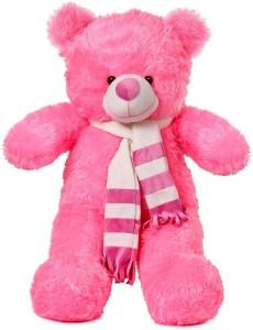 ToynJoy 3 Feet Cute Pink Stripe Muffler Teddy Stuffed Toy  - 86 cm